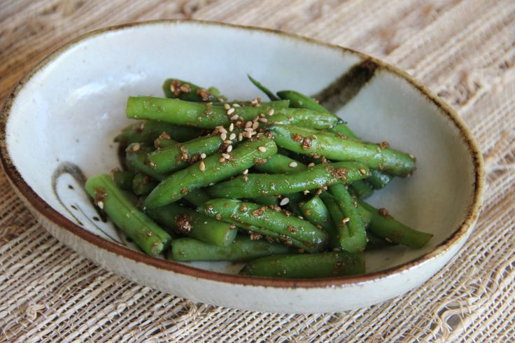 Green Beans with Sesame Sauce | Recipe