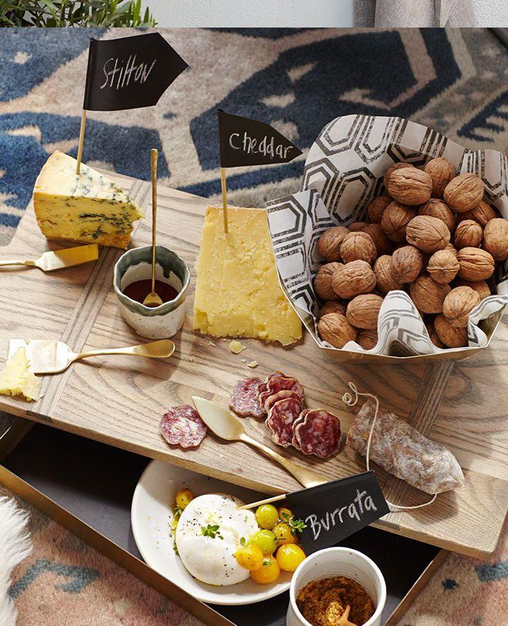 Tabla de quesos, embutido y #frutos secos