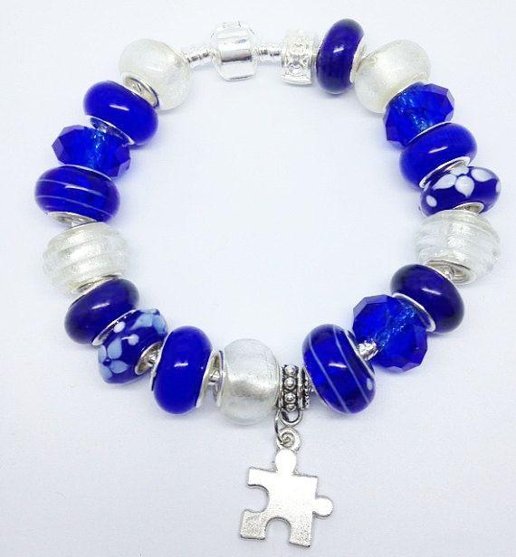Blue autism european style charm bracelet by graceandliz on etsy 20