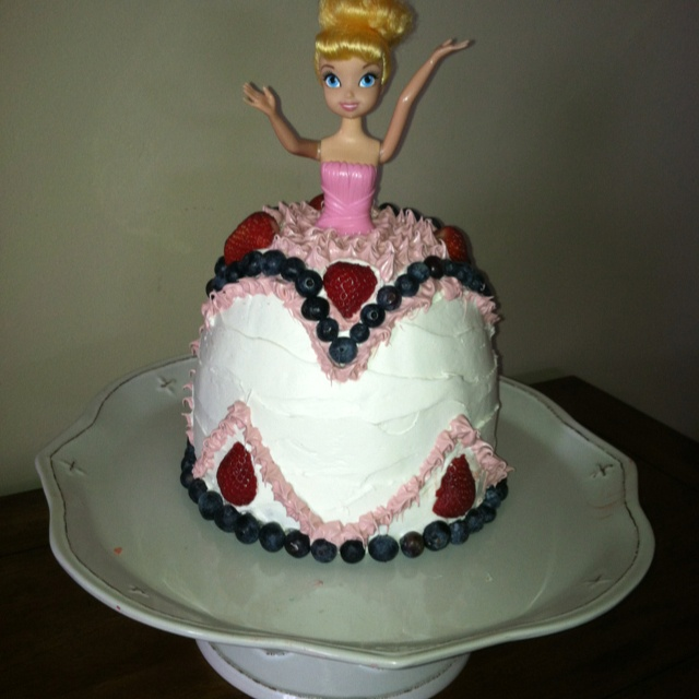 Easy princess cake decorating.