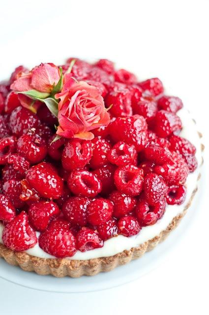 ... layer of chocolate ganache hidden beneath pastry cream and fruit