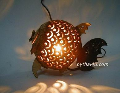 lamp made of coconut shell