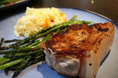pan-roasted pork loin chops