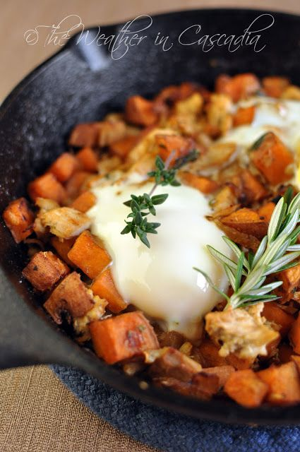 Thanksgiving Leftovers for Sunday Supper! Turkey & Sweet Potato Hash