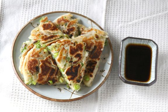 Scallion pancakes. | Breads | Pinterest