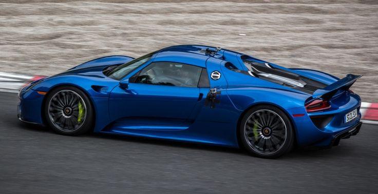 blue porsche 918 spyder exotic cars pinterest. Black Bedroom Furniture Sets. Home Design Ideas