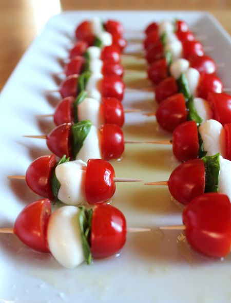 Caprese skewers! Tomato's at their finest! @flutterflutter