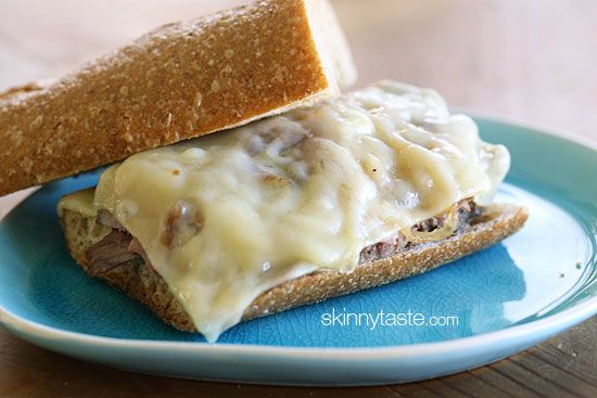 Roast Beef Sandwich with Melted Cheese and Caramelized Onions | Recipe