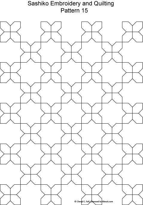 Sashiko Quilting Patterns Free : Pattern 15 Stitching - Sashiko Pinterest