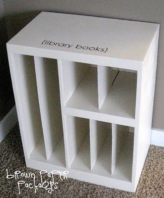 A crate for library books...PERFECT!