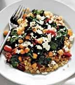 Couscous with Swiss Chard, Raisins and Feta | Recipe