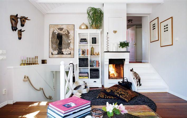 split level design fireplace global decor