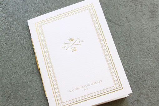 boston public library wedding invitation.