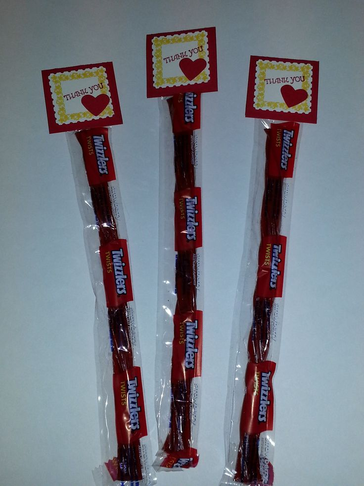 "Twizzler ""Thank You"" treats for participants of the Late Night ..."