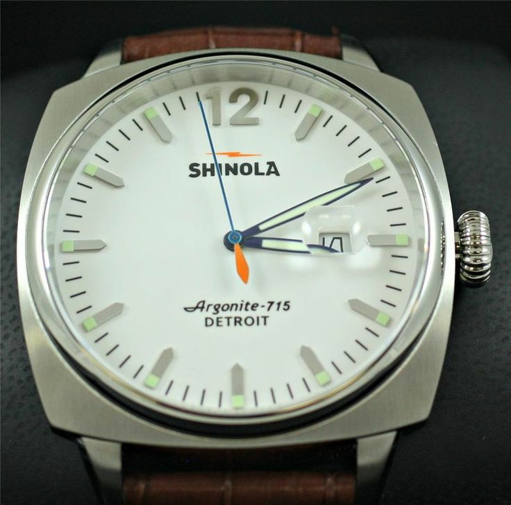 Shinola brakeman argonite 715 46mm stainless steel mint mens wa for Argonite watches
