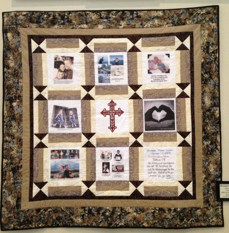 Memory quilt idea Quilts I didnot make, ideas & tutorials Pintere?