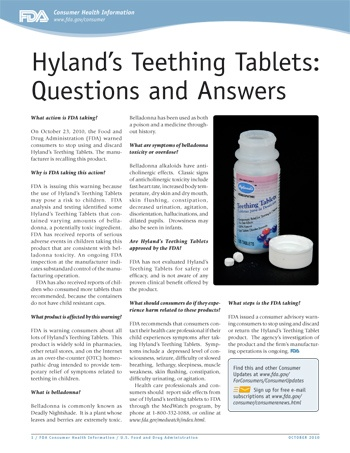 Hylands teething tablets recall!! | My Kids to Your Kids ...