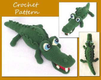 Leroy Alligator Ami'Pal Amigurumi Stuffed Reptile Crochet