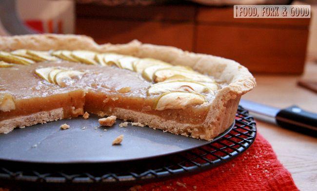 Apple Treacle Tart | British baking | apple pie | caramel | great ...