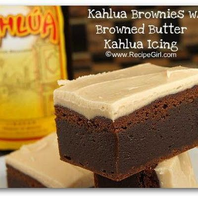 kahlua brownies w/ brown butter kahlua icing.