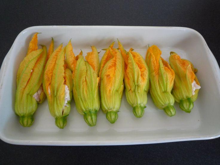 Greek Styled Stuffed Zucchini Flowers
