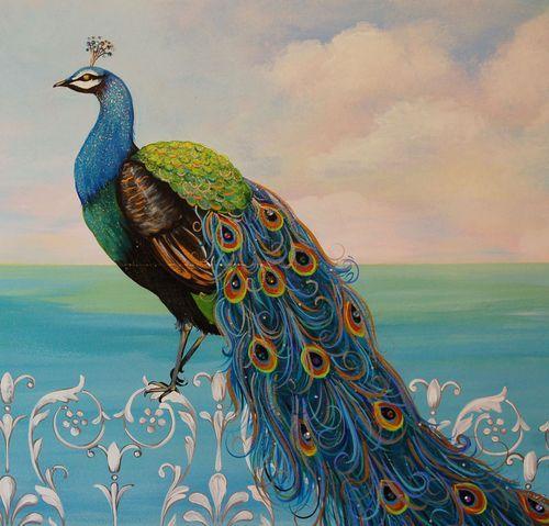 Raimbeault Peacock Mural 3   Peacock Love   Pinterest