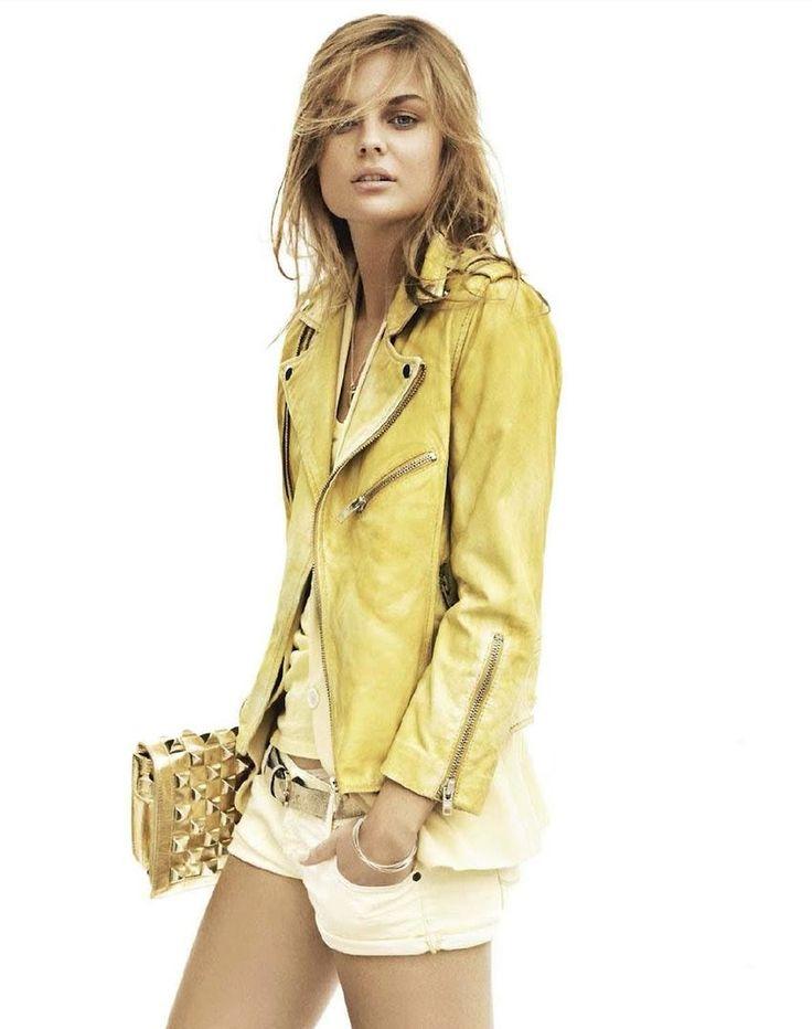 Yellow motorcycle jacket