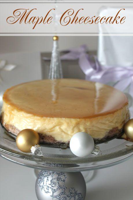 Gleaming Maple Cheesecake | Cheesecakes | Pinterest