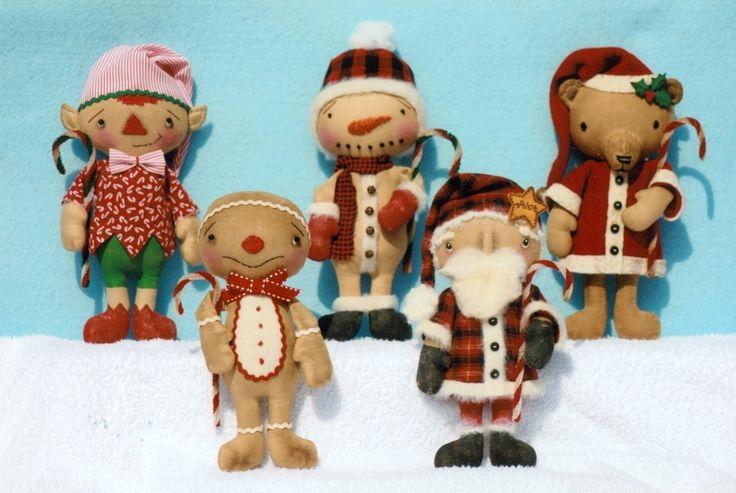 """Дед Мороз, Санта медведь, снежный человек, эльф и пряники мальчик!  Они 8 """"высокий"""