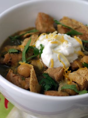 Chili Verde with Turkey and Garbanzo Beans #chilies #coldweather # ...