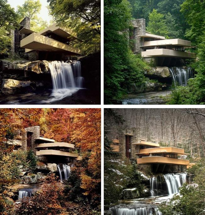 frank lloyd wright waterfall house car interior design. Black Bedroom Furniture Sets. Home Design Ideas