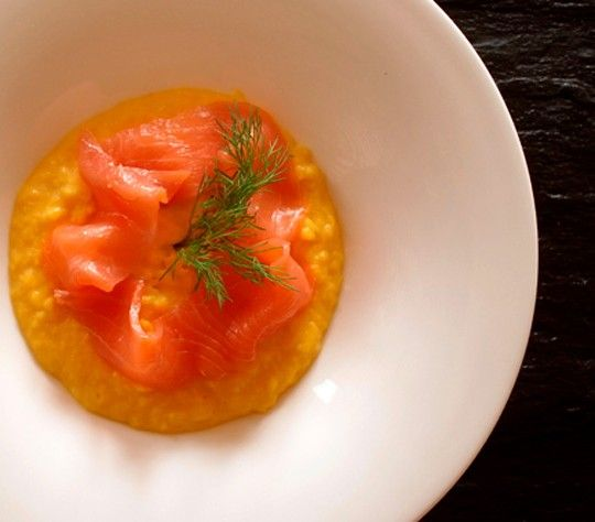 french-style scrambled eggs with smoked salmon