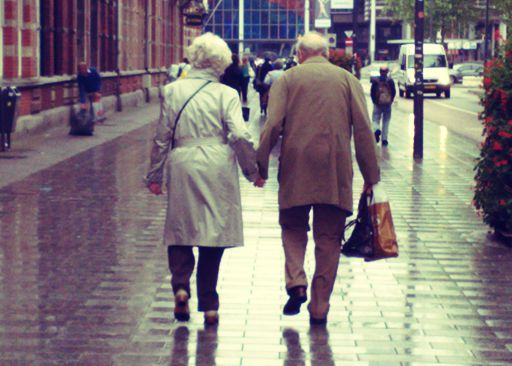 elderly couples who hold hands make me smile.