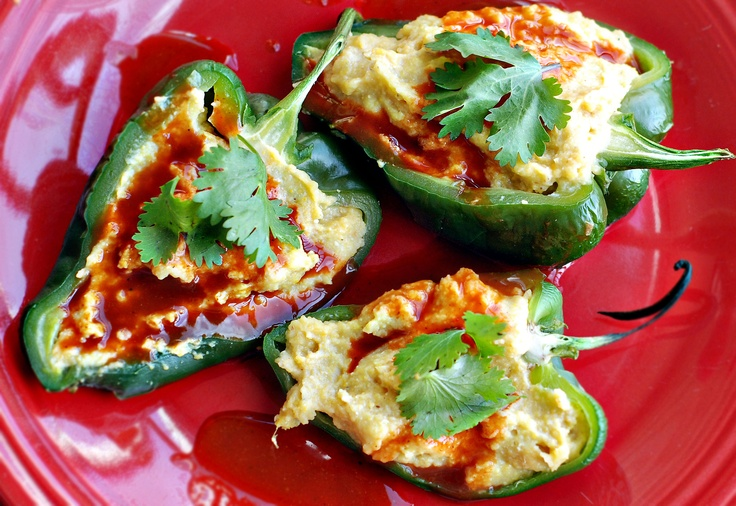 Polenta Stuffed Peppers - I tried this recipe with a few tweaks (I ...