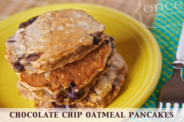 Oatmeal Chocolate Chip Pancakes Recipe — Dishmaps