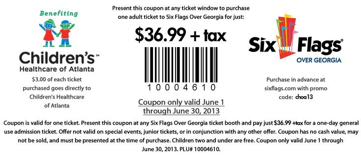 Six flags georgia coupons