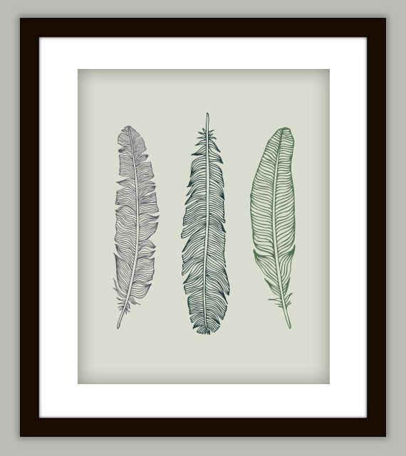 Feather Bathroom Art Print Poster Customize With By PrintsofBeauty