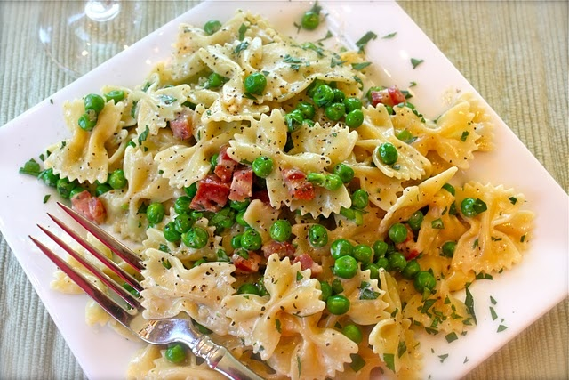 farfalle carbonara with spring peas | Pinned It, Tried It, Loved It ...