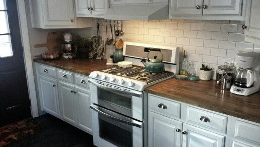 White Ice Appliances Kitchen Bright Cheery Pinterest