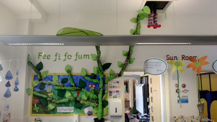 our jack and the beanstalk display