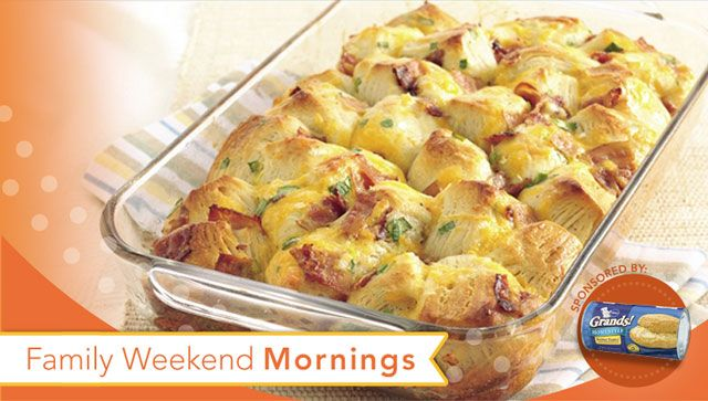 Bacon-Cheese Pull-Aparts | Breakfast | Pinterest