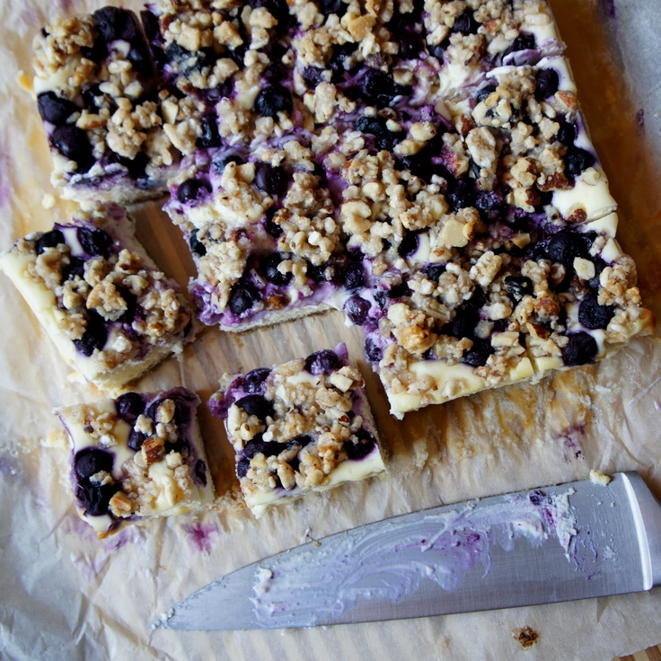 Blueberry Crumble Cheesecake Bars   Recipe