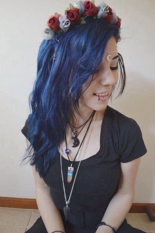 navy blue hair hair pinterest