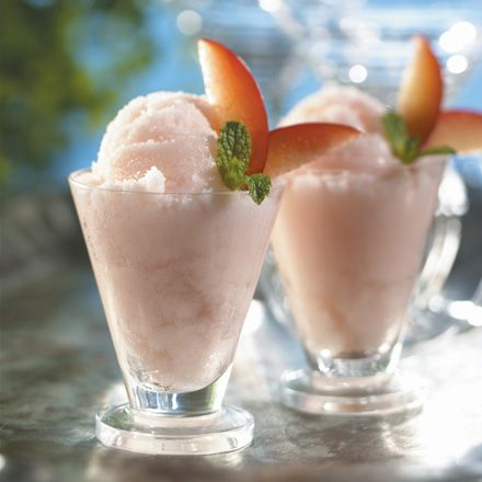 Easy peasy white peach sorbet | Recipes | Pinterest
