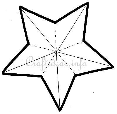 Dimensional_5-Pointed_Star template | Patterns/ Clip-art/ Printables ...