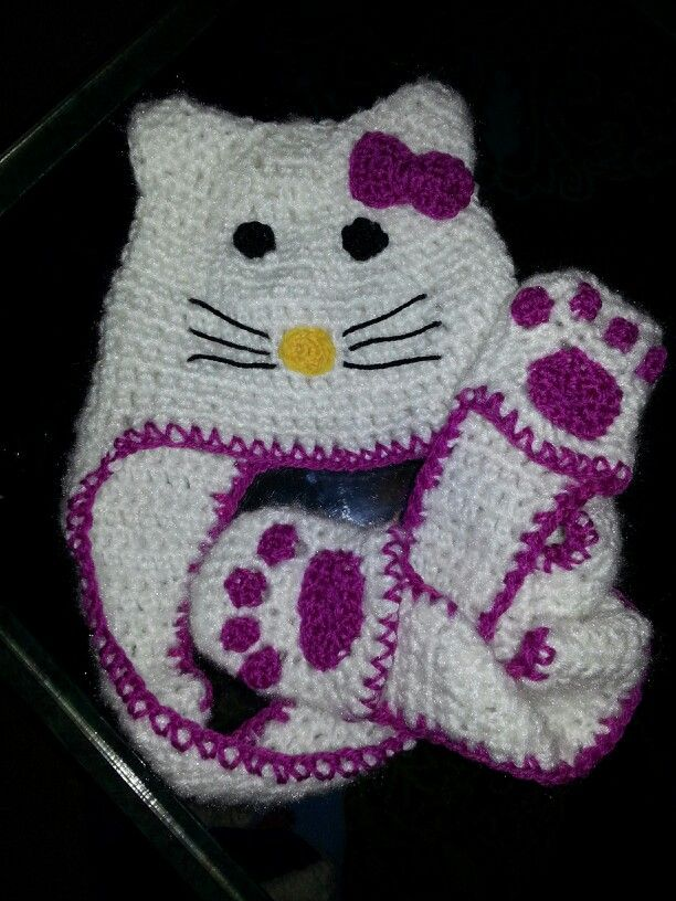 Hello Kitty crochet hat Crochet Pinterest