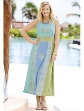 Plus Size Womens Clothing - Batik Beauty Sundress