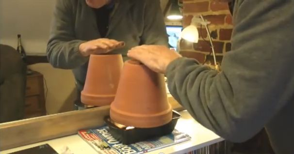 Clay Tea Pots with Heater Light