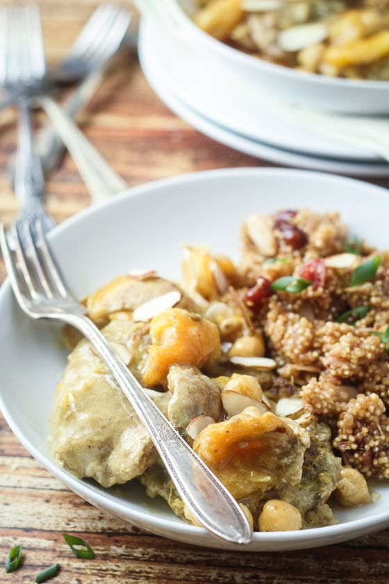 Slow Cooked Moroccan Apricot Chicken   Recipe