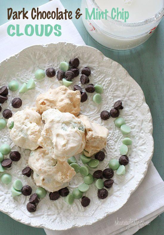 Dark Chocolate and Mint Chip Clouds | Skinnytaste